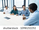 business mentor talking to... | Shutterstock . vector #1098152252