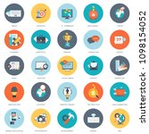 set of flat design icons for... | Shutterstock .eps vector #1098154052