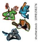 mascot icon illustration set of ... | Shutterstock .eps vector #1098158276