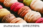 fresh bright colored macarons ... | Shutterstock . vector #1098159896