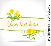 herbal background   banner with ... | Shutterstock . vector #109816046