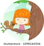illustration of a kid girl... | Shutterstock .eps vector #1098164546