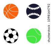 set of different sport ball ... | Shutterstock .eps vector #1098164792