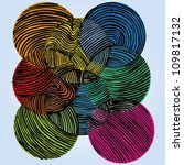 vector illustration of colorful ... | Shutterstock .eps vector #109817132
