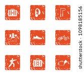 sport doctor icons set. grunge... | Shutterstock .eps vector #1098185156