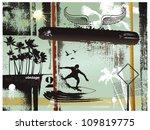 surf grunge frame | Shutterstock .eps vector #109819775
