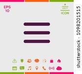 menu icon symbol   Shutterstock .eps vector #1098201515