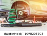 chang coil spring and shock... | Shutterstock . vector #1098205805