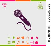 microphone icon symbol | Shutterstock .eps vector #1098207218