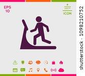 man on treadmill icon | Shutterstock .eps vector #1098210752