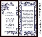 vintage delicate invitation... | Shutterstock .eps vector #1098219602