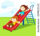 vector illustration of kids... | Shutterstock .eps vector #109822112