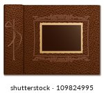 brown skin         over a photo ... | Shutterstock .eps vector #109824995