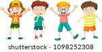 a set of children expression... | Shutterstock .eps vector #1098252308