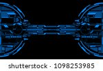 hud futuristic elements data... | Shutterstock .eps vector #1098253985