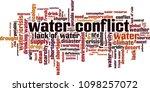 water conflict word cloud... | Shutterstock .eps vector #1098257072