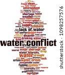 water conflict word cloud... | Shutterstock .eps vector #1098257576