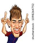 neymar jr template caricature... | Shutterstock .eps vector #1098264752