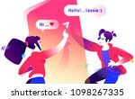 illustration of a boy and a...   Shutterstock .eps vector #1098267335