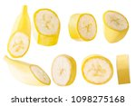 isolated bananas. collection... | Shutterstock . vector #1098275168