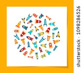 vector illustration  set of... | Shutterstock .eps vector #1098286526