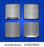 brushed metallic apps icon... | Shutterstock .eps vector #109829852
