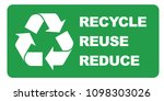 recycle reuse reduce sign vector | Shutterstock .eps vector #1098303026