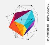 abstract modern geometric... | Shutterstock .eps vector #1098306932