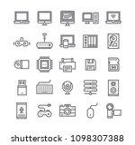 editable simple line stroke... | Shutterstock .eps vector #1098307388