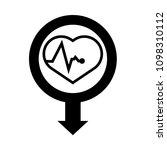 cardio map pointer icon. vector ... | Shutterstock .eps vector #1098310112