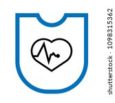 cardio health protection symbol.... | Shutterstock .eps vector #1098315362