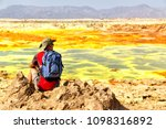 in dalol ethiopia a  backpacker ...   Shutterstock . vector #1098316892