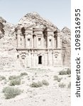the antique site of petra in...   Shutterstock . vector #1098316955