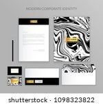 corporate identity business set....   Shutterstock .eps vector #1098323822