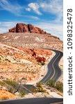 scenic winding road  travel... | Shutterstock . vector #1098325478
