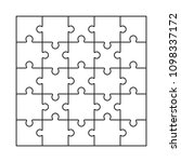 puzzle blank template vector....   Shutterstock .eps vector #1098337172