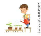 cute little boy character... | Shutterstock .eps vector #1098339425