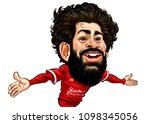 mohammed salah gabriel ... | Shutterstock .eps vector #1098345056