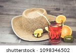summer holiday cocktail glass | Shutterstock . vector #1098346502