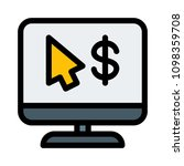 pay per click monetization | Shutterstock .eps vector #1098359708