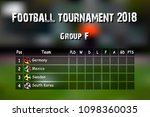 football results table.... | Shutterstock .eps vector #1098360035