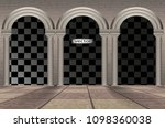 architectural arches  tiled... | Shutterstock .eps vector #1098360038