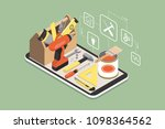 do it yourself and home... | Shutterstock .eps vector #1098364562