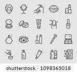 line icons set for cosmetic ... | Shutterstock .eps vector #1098365018