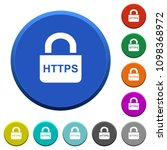 secure http protocol round... | Shutterstock .eps vector #1098368972