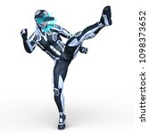3d cg rendering of a super hero | Shutterstock . vector #1098373652