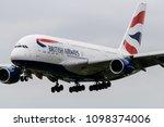 heathrow airport  london ... | Shutterstock . vector #1098374006