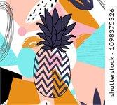 contemporary design pineapple...   Shutterstock .eps vector #1098375326