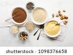 assortment uncooked cereals ... | Shutterstock . vector #1098376658