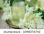 homemade syrup of elderberry...   Shutterstock . vector #1098376742